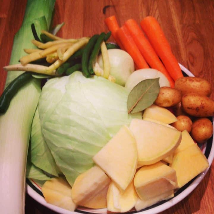 Recette de bouilli de boeuf et légumes (pot-au-feu), les légumes