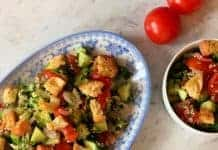 Salade de quinoa et croûtons