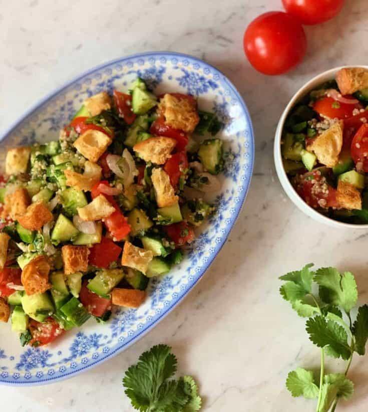Salade de quinoa aux croûtons