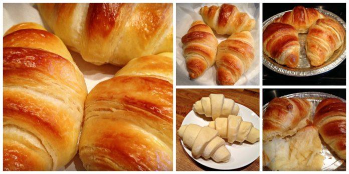 Pate à croissant du pain doré