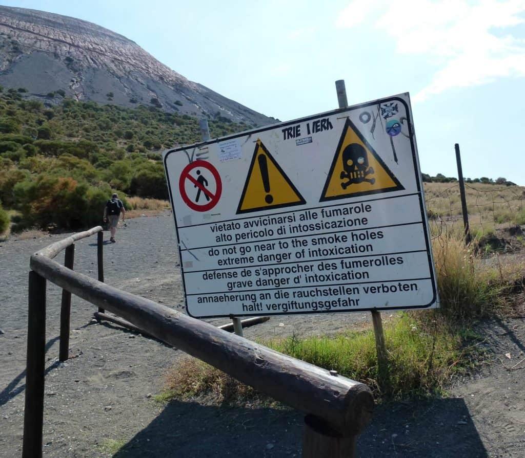 Début du sentier - Vulcano