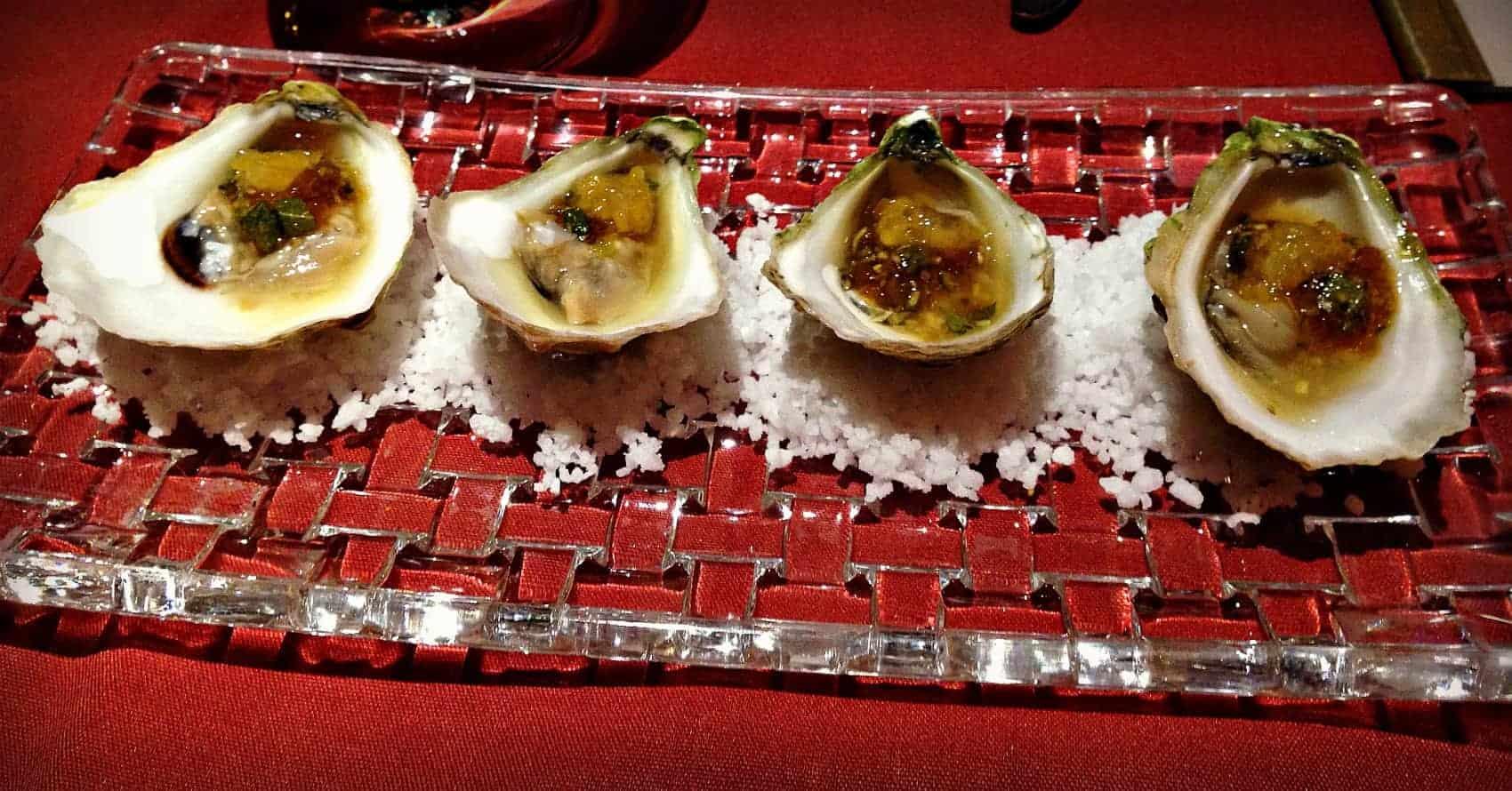 Entrée d'huîtres - restaurant Le Filet