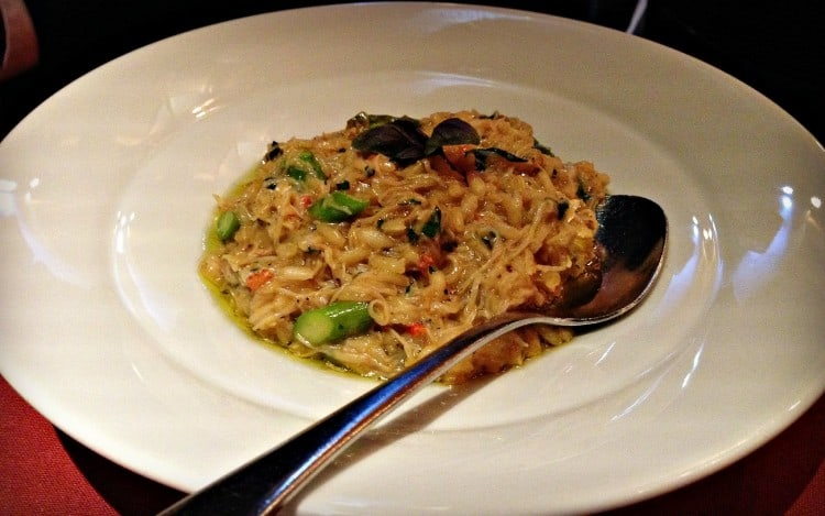 Risotto au crabe - restaurant Le Filet