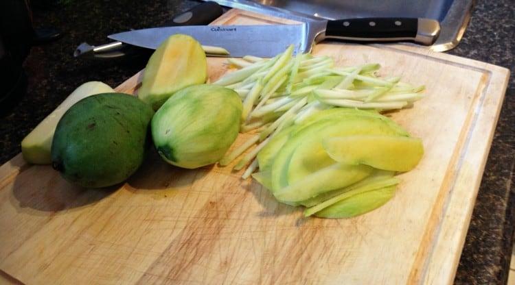 Mangues vertes - rouleaux de printemps