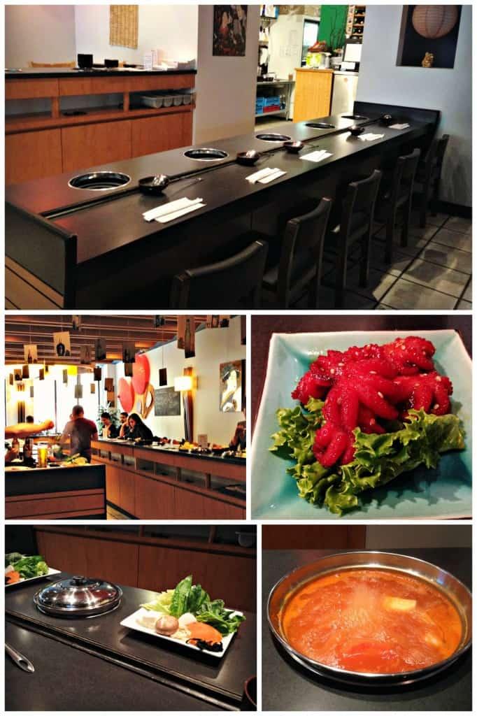 Shabu-Shabu, restaurant et entrée de pieuvre marinée