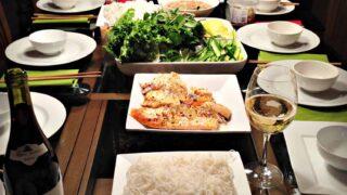 Rouleaux de printemps au saumon