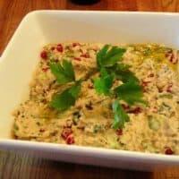 Trempette à l'aubergine rôtie et tahini de Yotam Ottolenghi