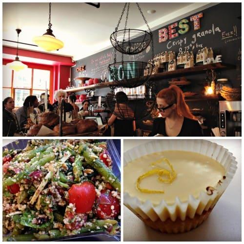 Olive et Gourmando : salade et cupcake au citron