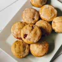 Muffins aux framboises et au citron