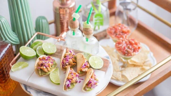 Tacos avec pico de gallo, tortillas avec pico de gallo