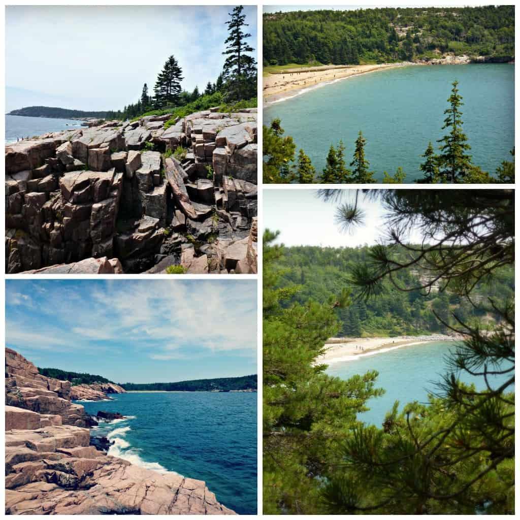Sand beach vu de l'ocean path - Parc Acadia