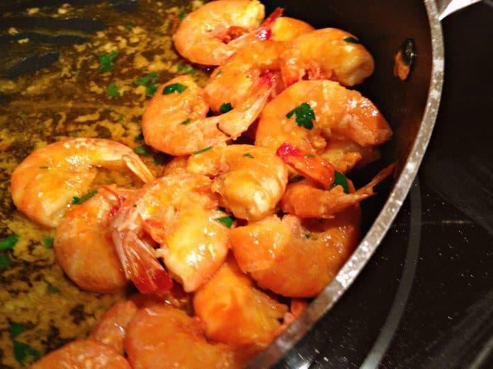 Crevettes poêlées à la plancha