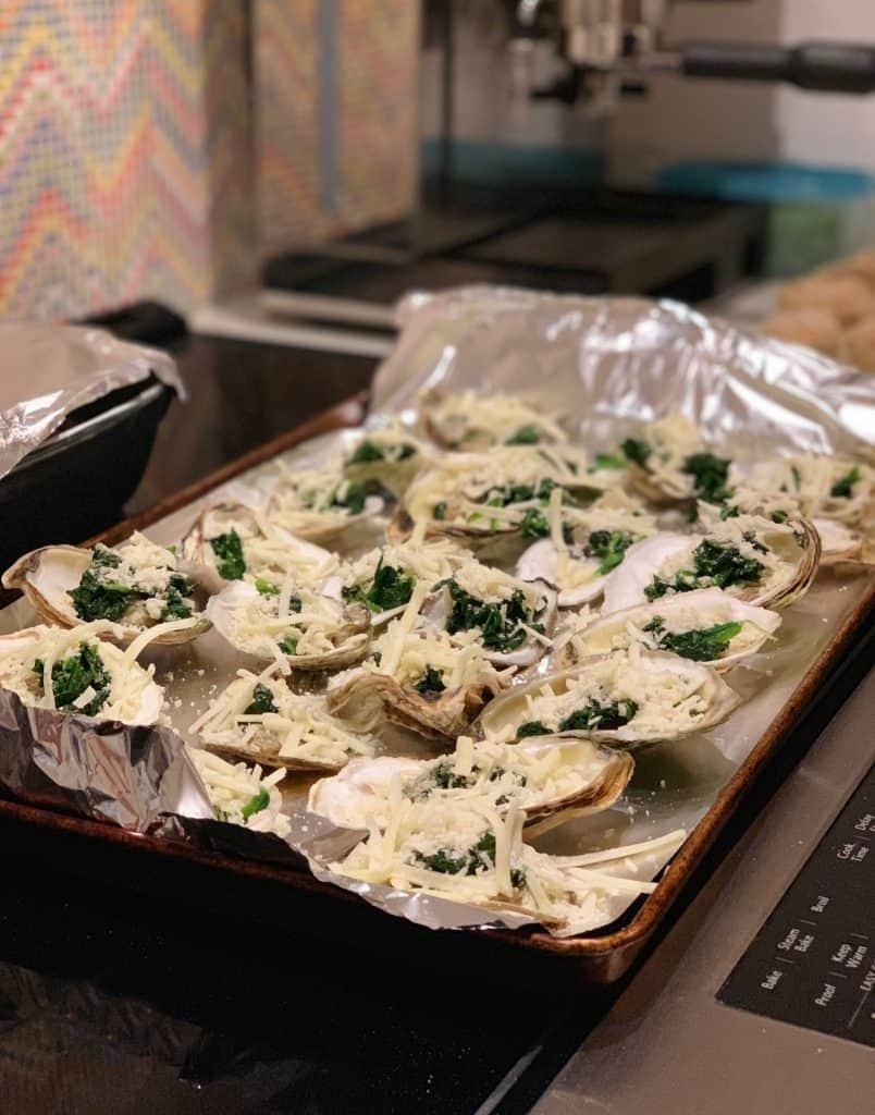 Huîtres gratinées aux épinards