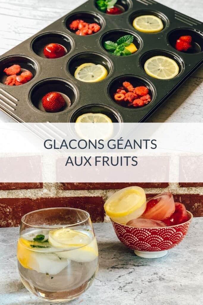 Glaçons géants aux petits fruits