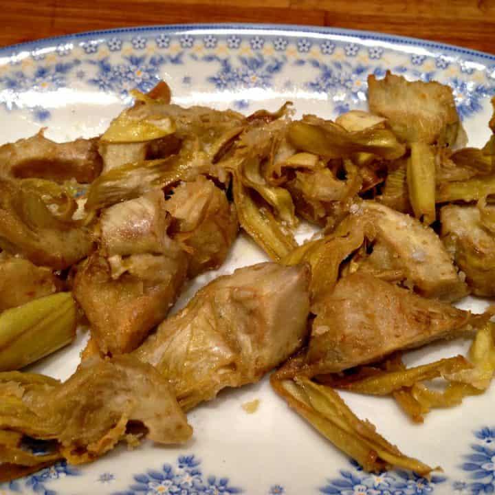 Recette de tapas: artichauts frits
