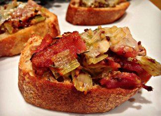 Bouchées de poireaux et de bacon