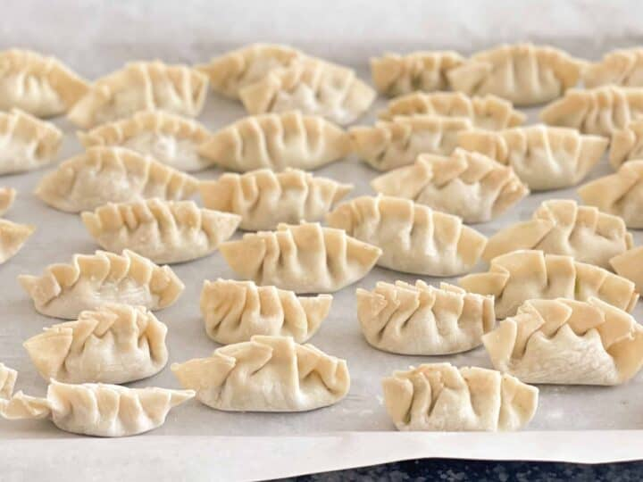 Dumplings pliés
