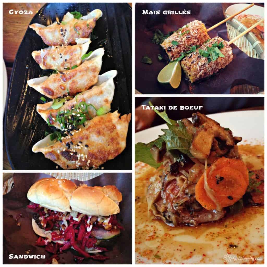 Gyoza, mais grillés, sandwich, tataki de boeuf - Biiru Montréal