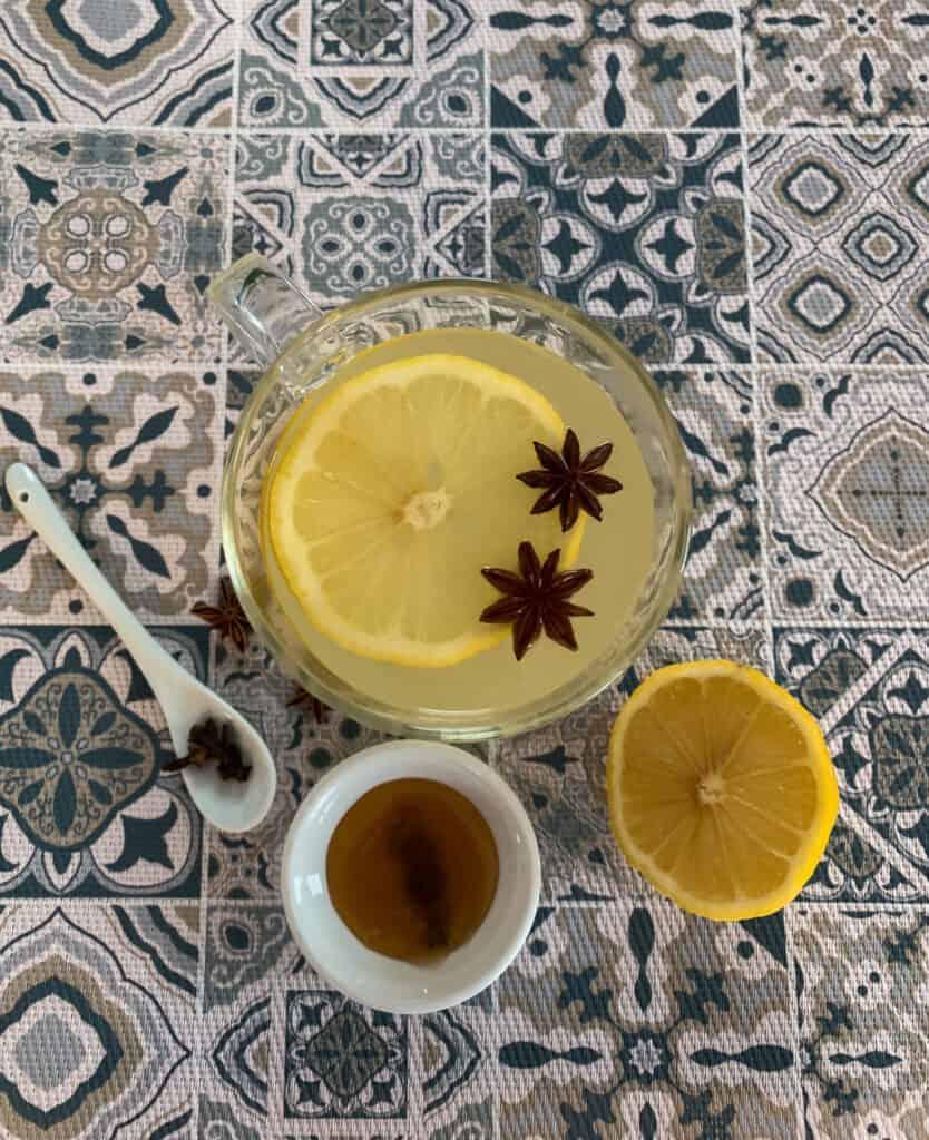 Les ingrédients du grog miel et citron