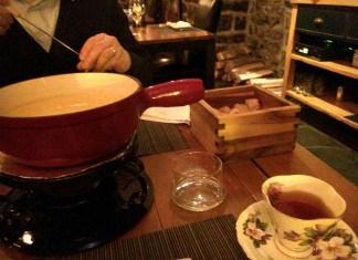 fondue au fromage - Auberge Saint-Gabriel