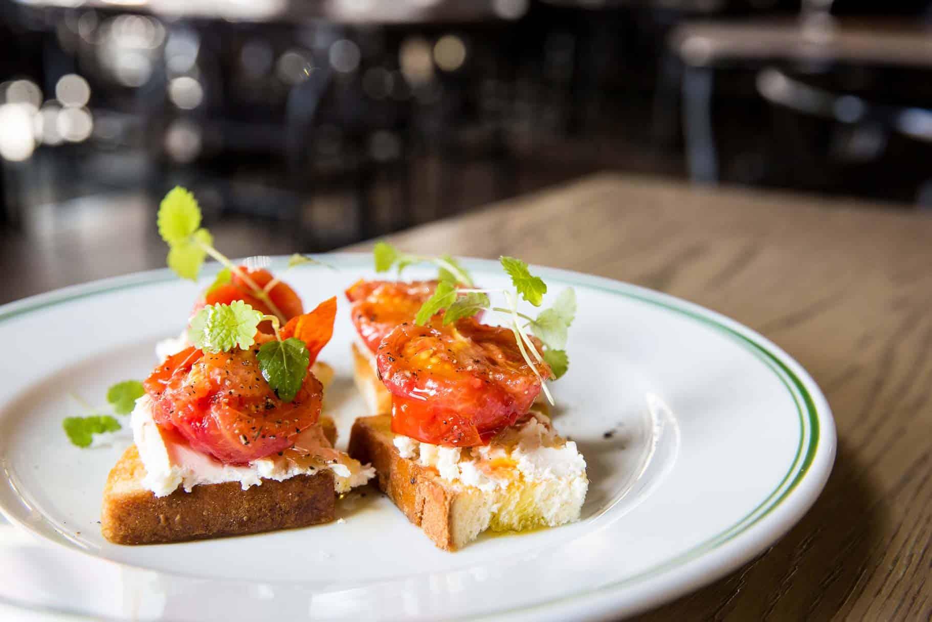 Croutons tomates et chèvre - cuisine espagnole - SIAL 2016