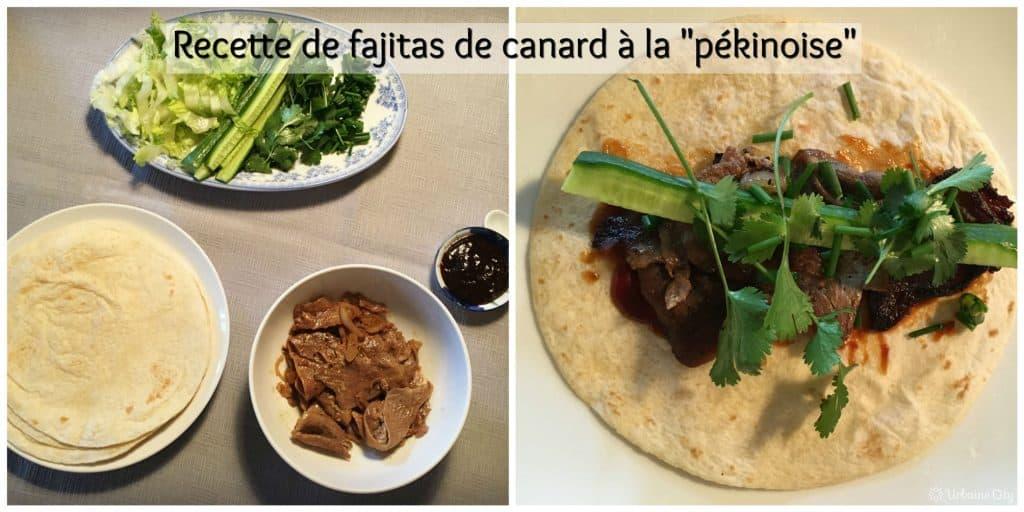 recette de fajitas de canard à la pékinoise