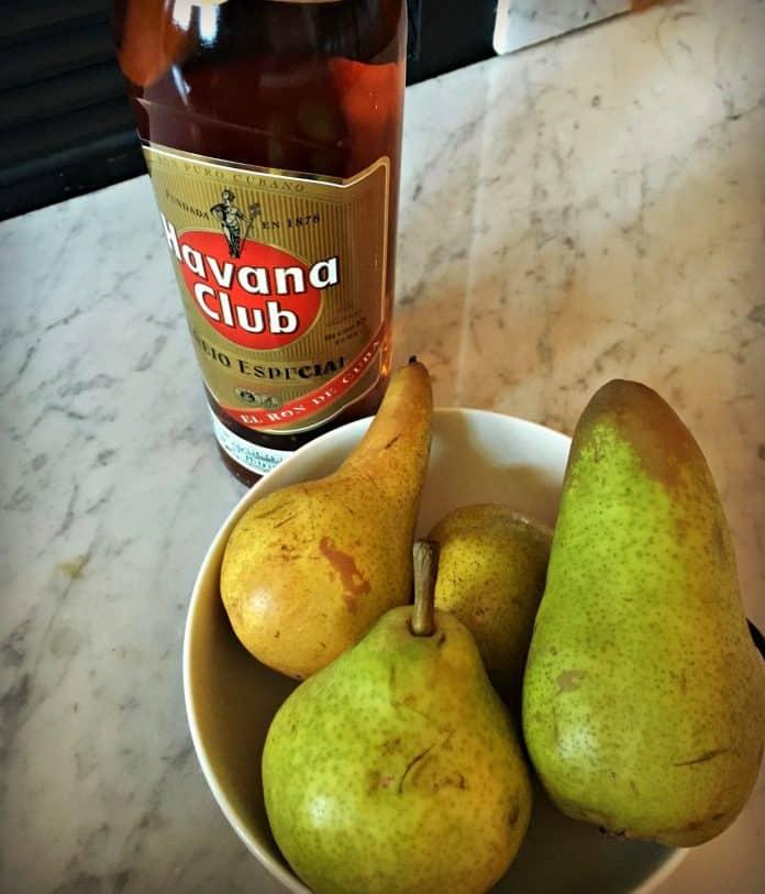 Sorbet à la poire et au rhum - les ingrédients