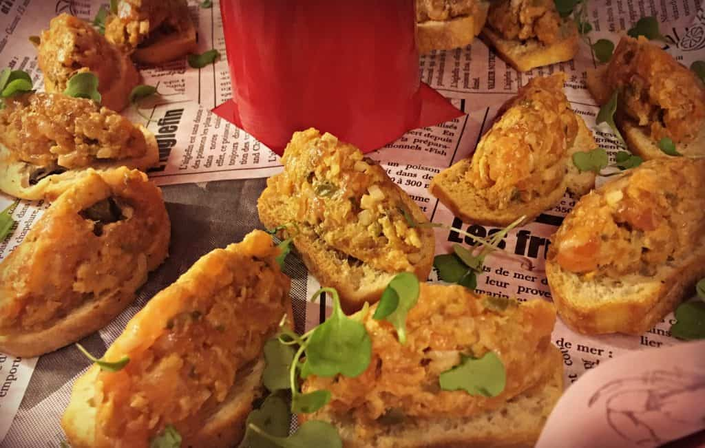 Le tartare de saumon à l'asiatique, Sriracha et sésame, récipiendaire du premier prix au Tartare Fest