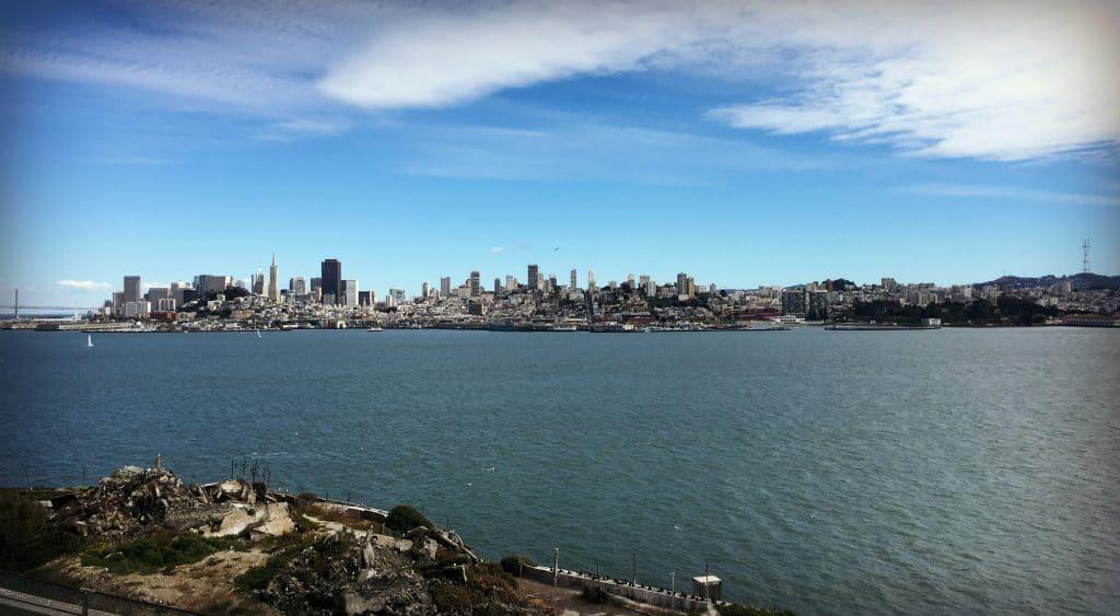 Vue de San Francisco à partir d'Alcatraz