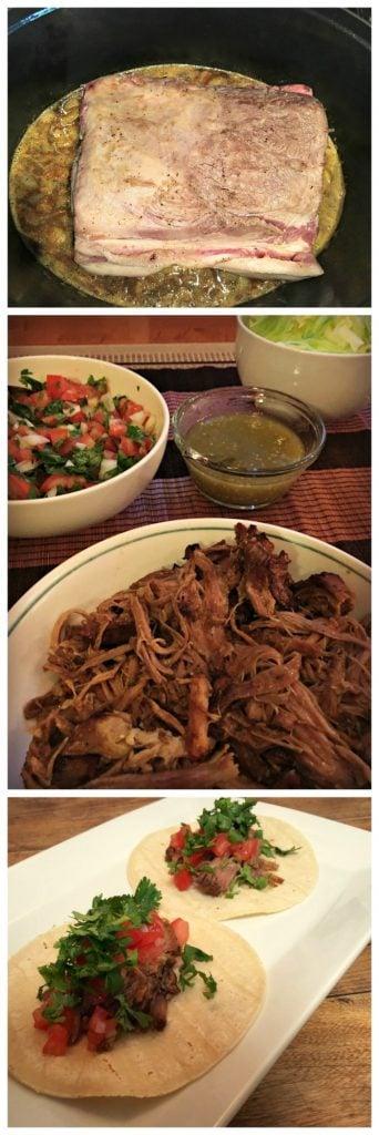 Étapes du porc effiloché pour tacos