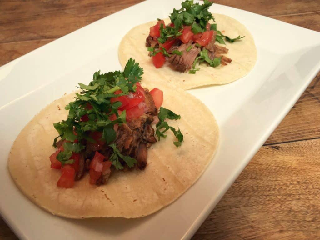 Tacos au porc effiloché