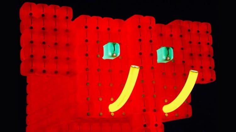 Bibi l'éléphant rouge - Montréal en Lumière