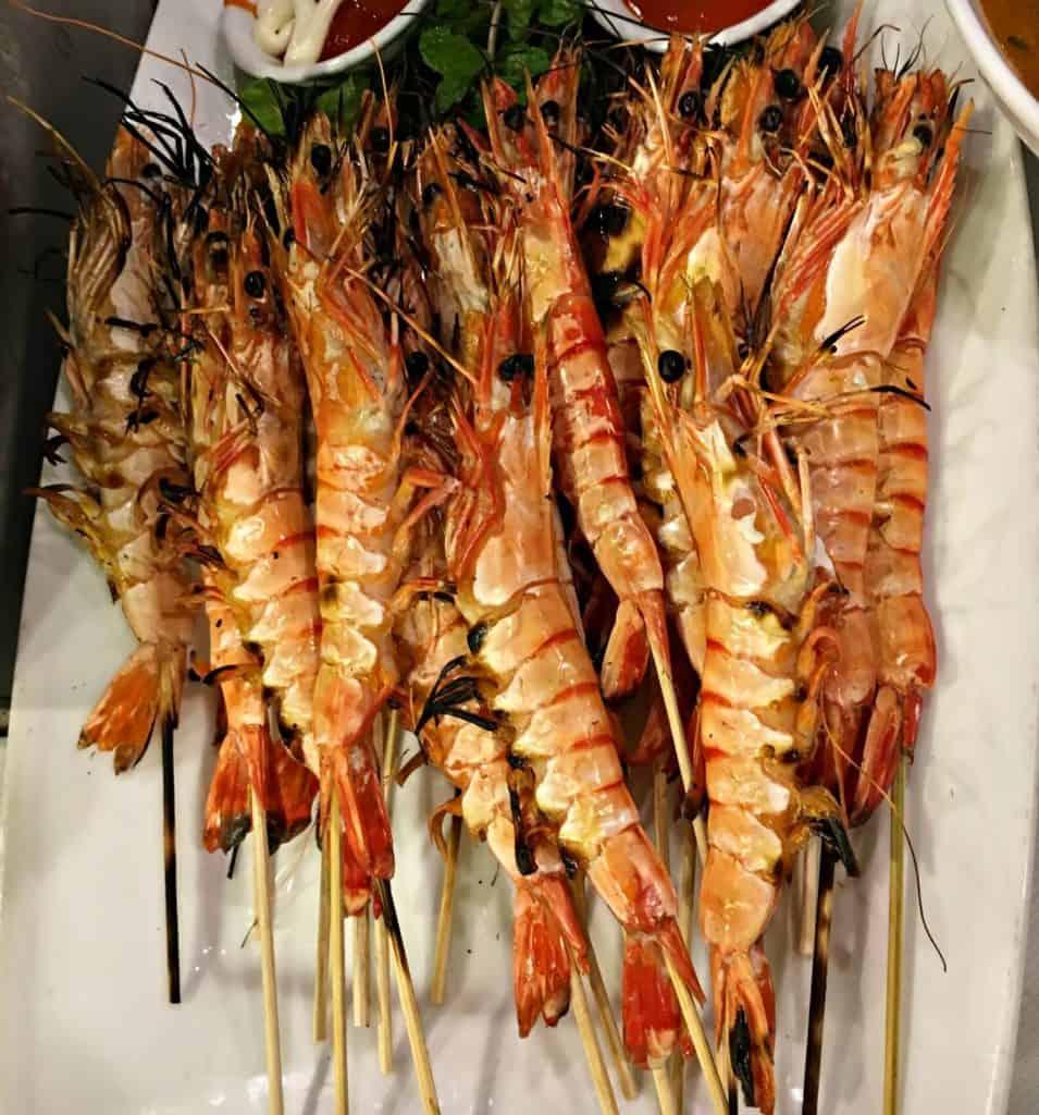 Crevettes grillées - guide gourmand vietnam
