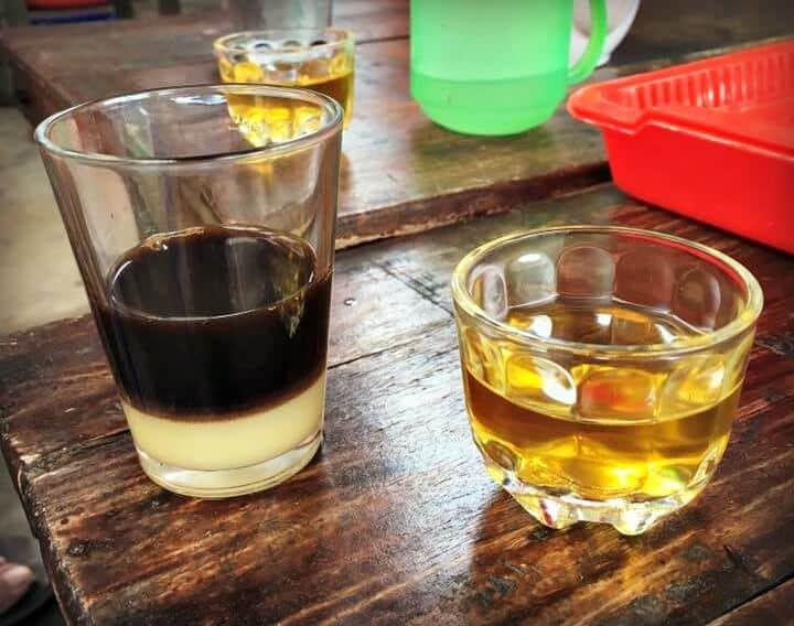 Café vietnamien avec lait condensé