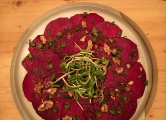 Carpaccio de betteraves - Crudessence