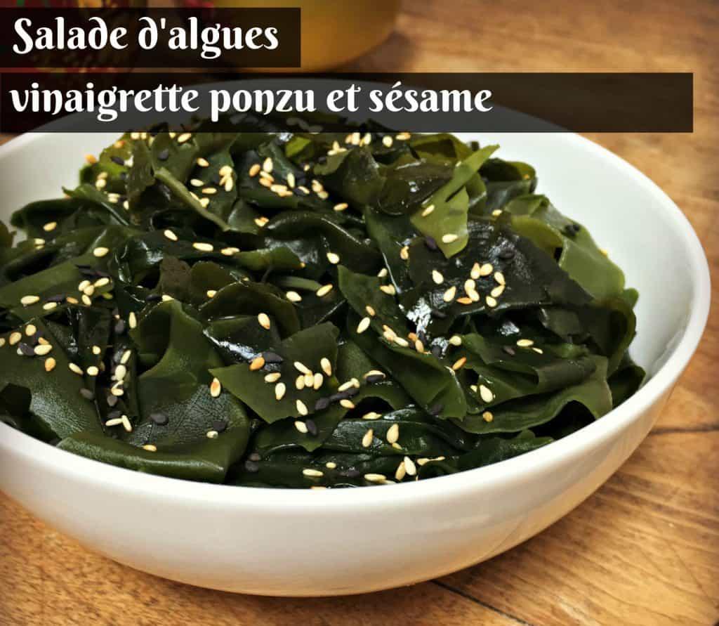 Recette de salade d'algues, vinaigrette au ponzu et sésame