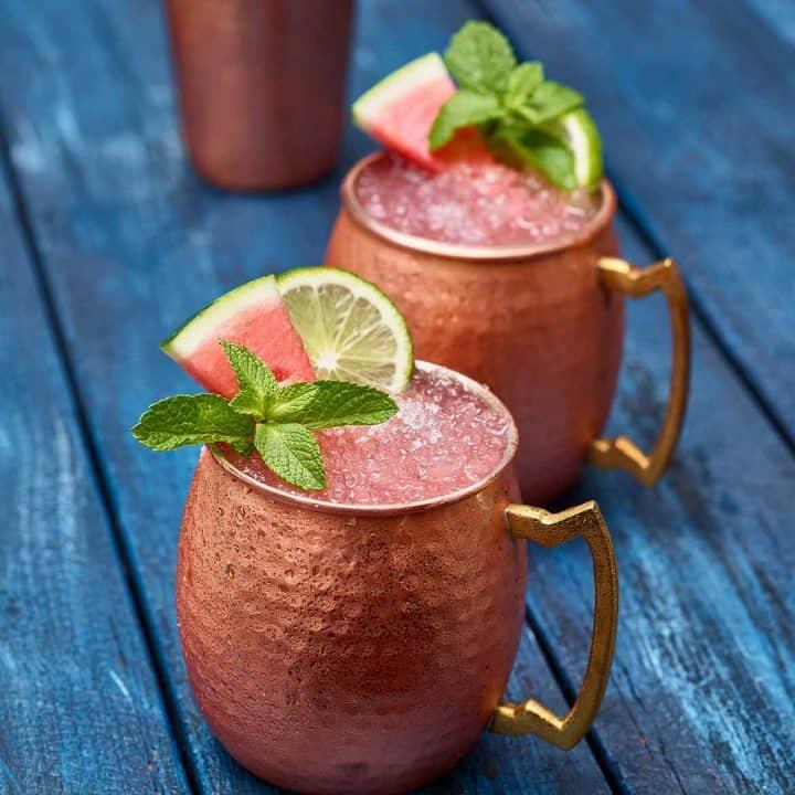 Cocktails au melon d'eau : Moscow Mule