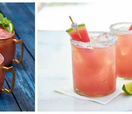 Cocktails au melon d'eau : Moscow Mule et Margarita