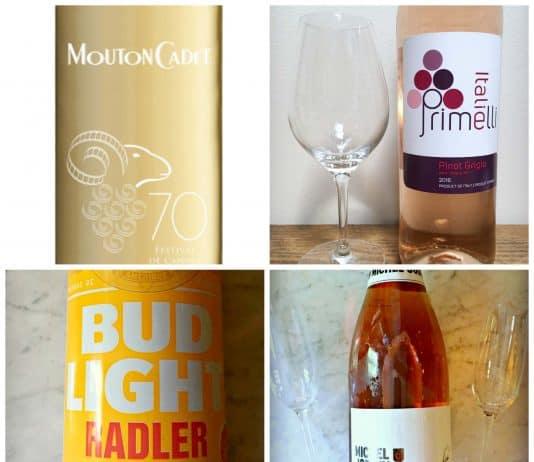 Les boissons de l'été : Rosé Primelli, Bud Light Radler, Mouton Cadet, Cidre Mousseux Michel Jodoin
