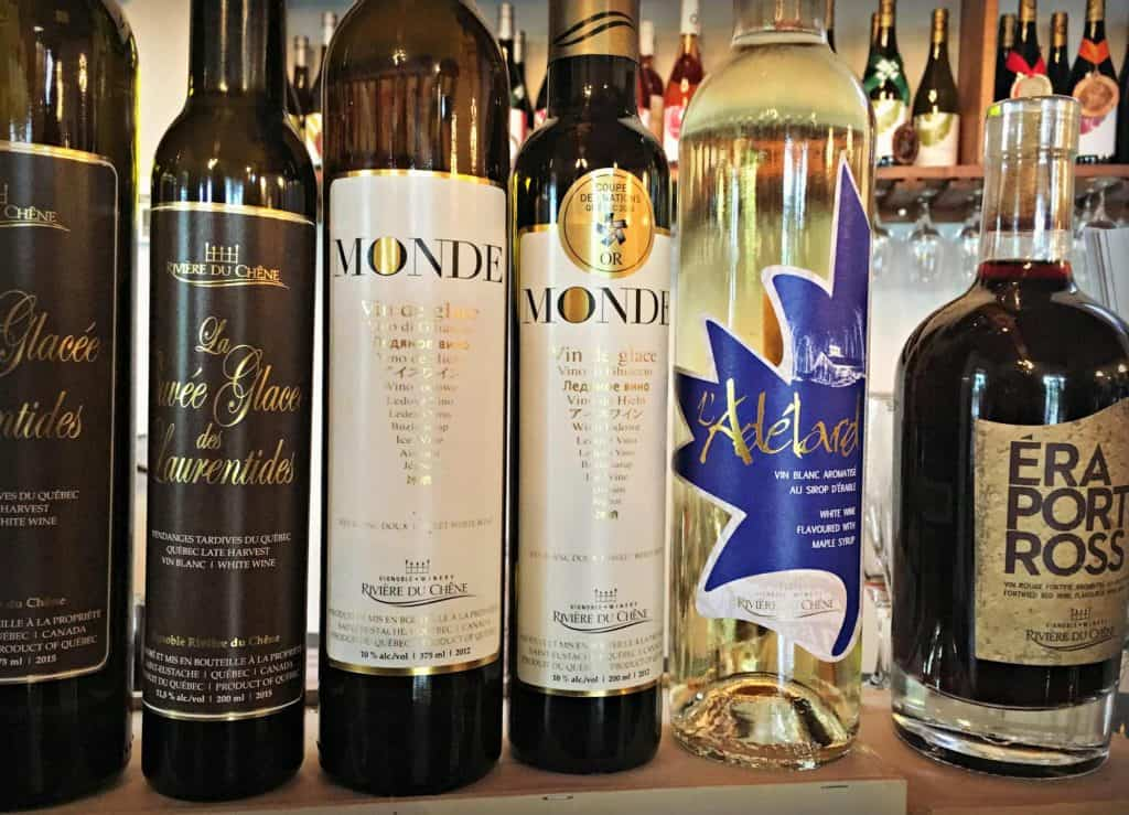 Les vins - Rivière du Chêne