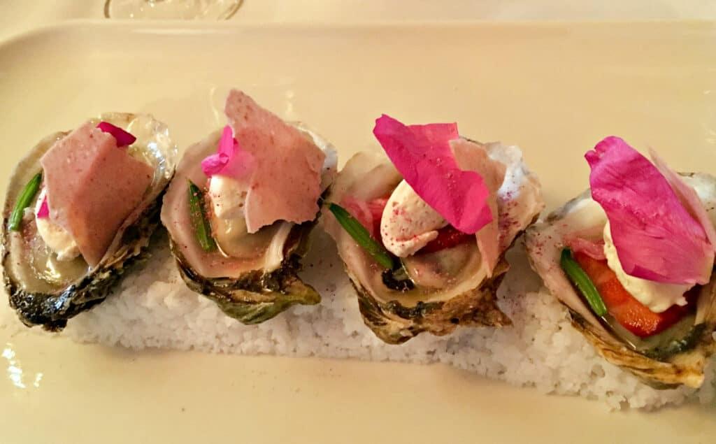 Les huîtres servies au Restaurant de Colombe St-Pierre