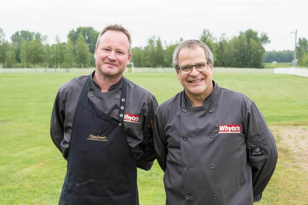 les chefs Benoît Huot (Maison Gourmet) et Alain Berthelot (Gîte du Mont Albert)