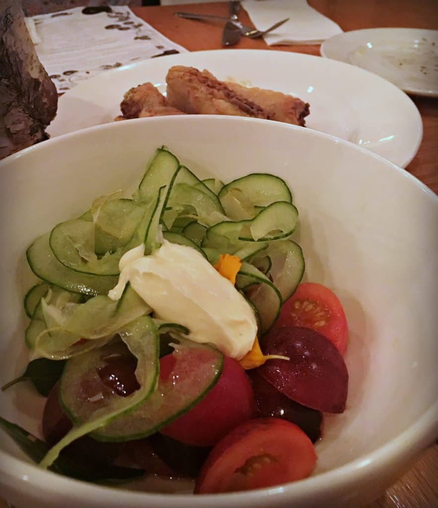 Salade de tomates - Terra Perma chez Fabergé