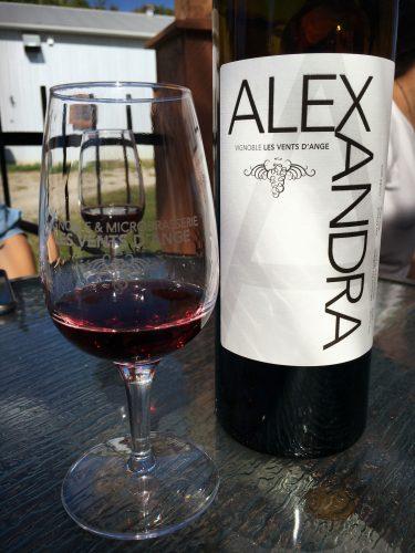 Vin rouge Alexandra - Vignoble Les Vents d'Ange
