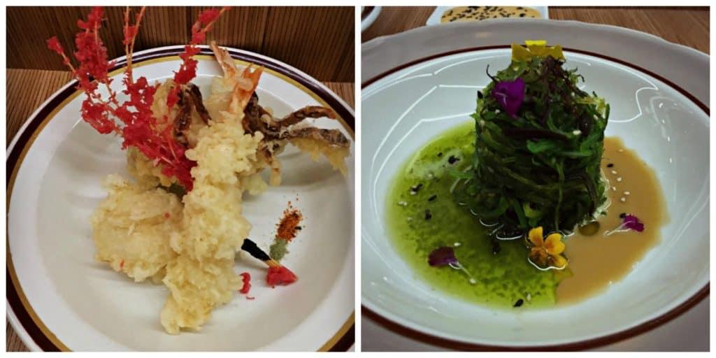 Tempura et salade d'algues - Le Blossom