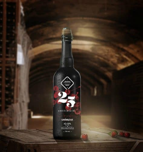 la bière 25e anniversaire - Unibroue