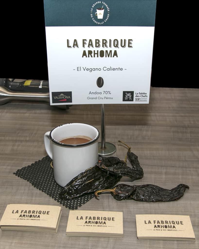 El Vegano Caliente - La Fabrique Arhoma - La Grande Tournée du Chocolat Chaud 2018