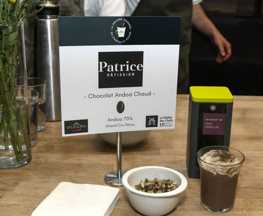 Chocolat Andoa Chaud - Patrice Patissier - La Grande Tournée du Chocolat Chaud 2018