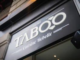 Devanture du Taboo Cuisine Rebelle - Centre-ville -Montréal
