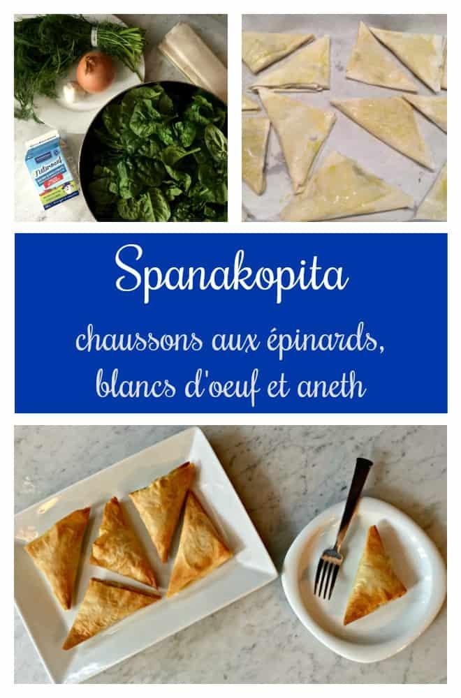 Spanakopitas aux épinards, blancs d'oeuf et aneth